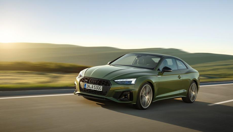 Audi A5. Выпускается с 2019 года. Десять базовых комплектаций. Цены от 2 835 000 до 3 710 000 руб.Двигатель 2.0, бензиновый. Привод передний и полный. КПП: роботизированная.