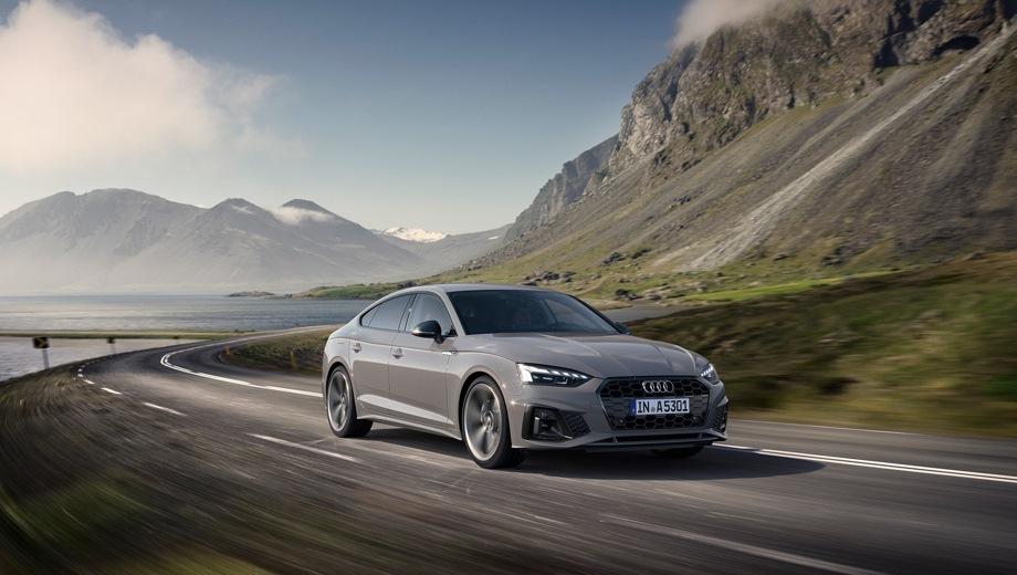 Audi A5 Sportback. Выпускается с 2019 года. Десять базовых комплектаций. Цены от 2 835 000 до 3 710 000 руб.Двигатель 2.0, бензиновый. Привод передний и полный. КПП: роботизированная.