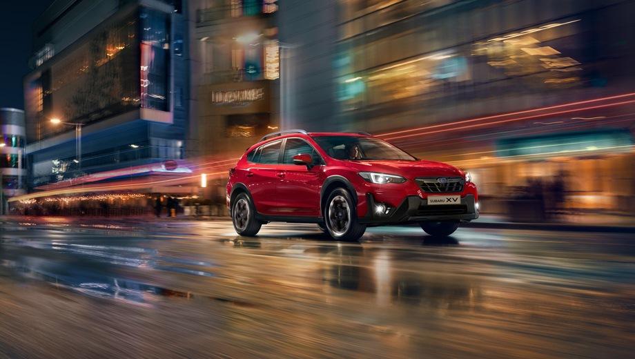 Subaru XV. Выпускается с 2021 года. Три базовые комплектации. Цены от 2 489 000 до 2 659 900 руб.Двигатель 2.0, бензиновый. Привод полный. КПП: вариатор.