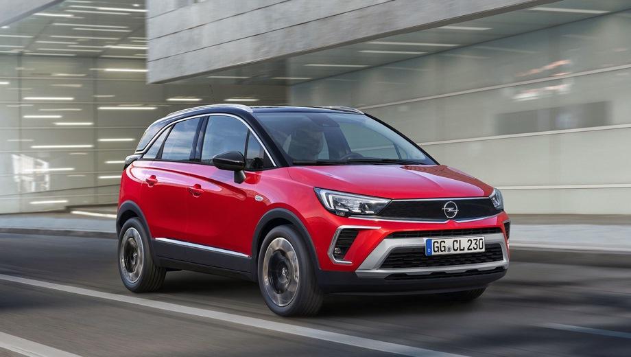Opel Crossland. Выпускается с 2020 года. Четыре базовые комплектации. Цены от 1 699 000 до 2 119 000 руб.Двигатель 1.2, бензиновый. Привод передний. КПП: автоматическая.