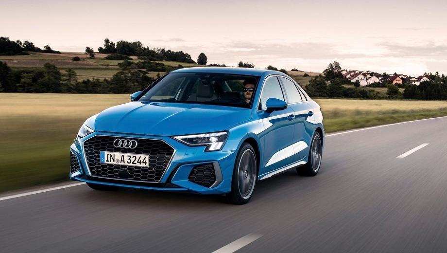 Audi A3 Sedan. Выпускается с 2020 года. Четыре базовые комплектации. Цены от 2 610 000 до 2 986 000 руб.Двигатель 1.4, бензиновый. Привод передний. КПП: автоматическая.
