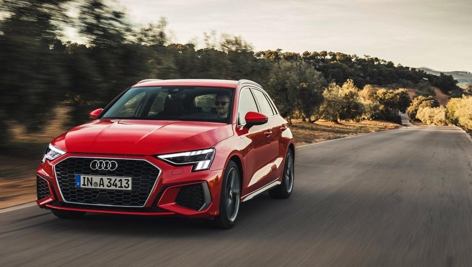 Audi A3 Sportback. Выпускается с 2020 года. Четыре базовые комплектации. Цены от 2 525 000 до 2 901 000 руб.Двигатель 1.4, бензиновый. Привод передний. КПП: автоматическая.