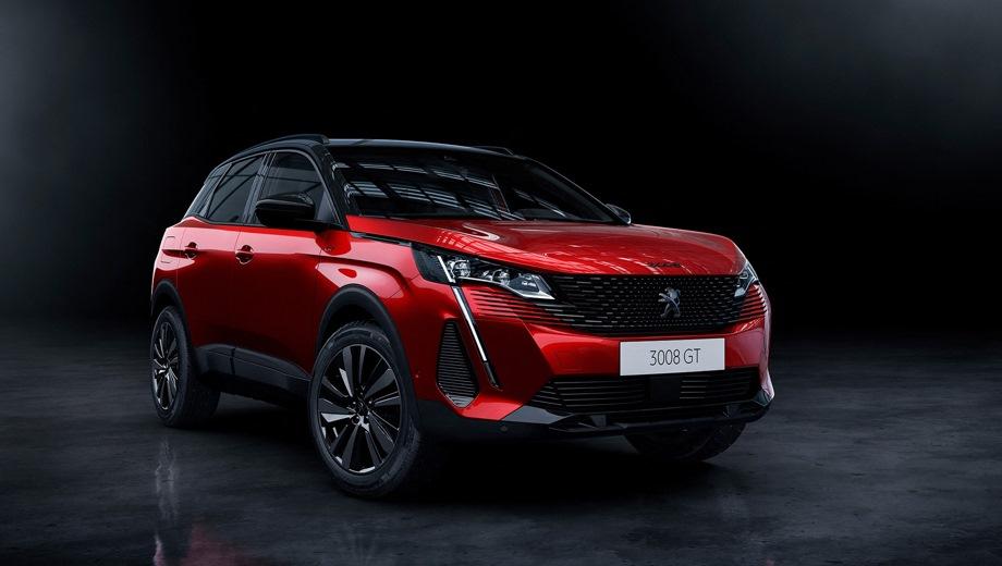 Peugeot 3008. Выпускается с 2020 года. Пять базовых комплектаций. Цены от 2 079 000 до 2 679 000 руб.Двигатель от 1.6 до 2.0, бензиновый и дизельный. Привод передний. КПП: автоматическая.