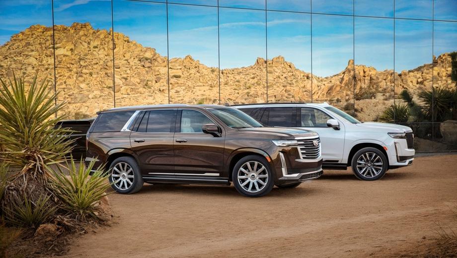 Cadillac Escalade. Выпускается с 2020 года. Десять базовых комплектаций. Цены от 7 777 777 до 9 599 000 руб.Двигатель 6.2, бензиновый. Привод полный. КПП: автоматическая.