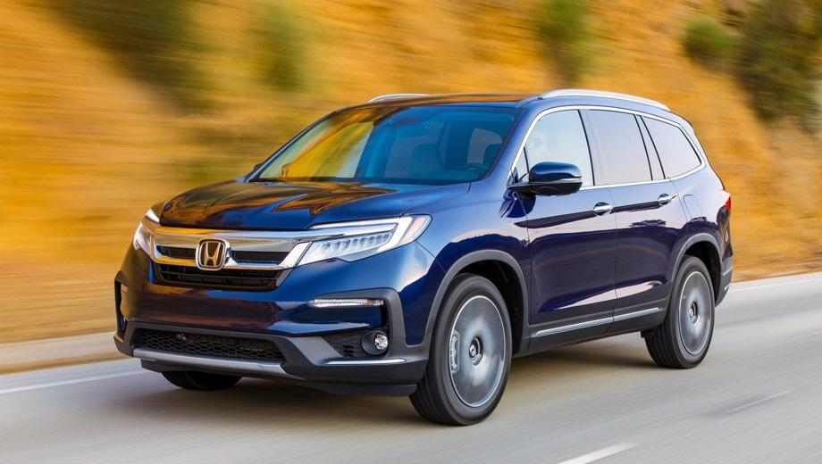 Honda Pilot. Выпускается с 2018 года. Три базовые комплектации. Цены от 3 849 900 до 4 639 900 руб.Двигатель 3.0, бензиновый. Привод полный. КПП: автоматическая.