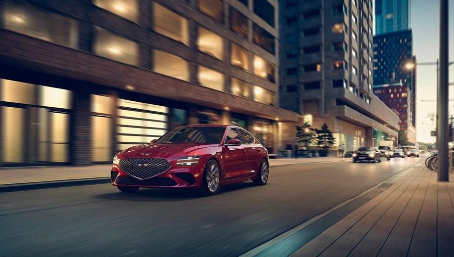 Genesis G70. Выпускается с 2020 года. Восемь базовых комплектаций. Цены от 3 100 000 до 4 700 000 руб.Двигатель от 2.0 до 3.3, бензиновый. Привод полный и задний. КПП: автоматическая.