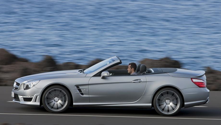 Mercedes-Benz SL 63 AMG. Выпускается с 2012 года. Одна базовая комплектация. Цена 11 150 000 руб.Двигатель 5.5, бензиновый. Привод задний. КПП: автоматическая.
