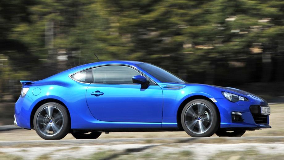Subaru BRZ. Выпускается с 2012 года. Одна базовая комплектация. Цена 2 799 900 руб.Двигатель 2.0, бензиновый. Привод задний. КПП: механическая.