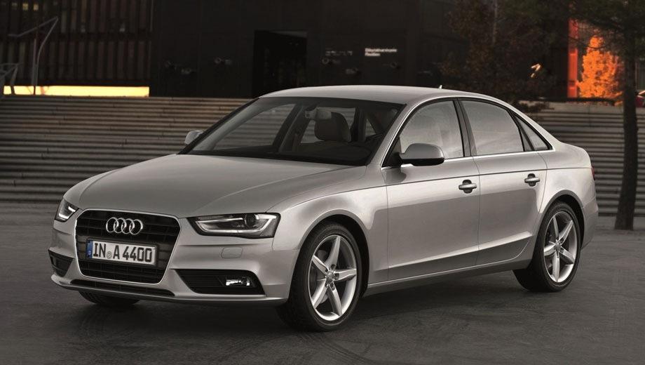 Audi A4 (2008). Выпускается с 2008 года. Одиннадцать базовых комплектаций. Цены от 1 670 000 до 2 700 000 руб.Двигатель от 1.8 до 3.0, бензиновый и дизельный. Привод передний и полный. КПП: механическая, вариатор и роботизированная.