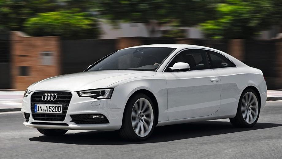 Audi A5 (2007). Выпускается с 2007 года. Семь базовых комплектаций. Цены от 2 280 000 до 3 275 000 руб.Двигатель от 1.8 до 3.0, бензиновый. Привод передний и полный. КПП: механическая, вариатор и роботизированная.