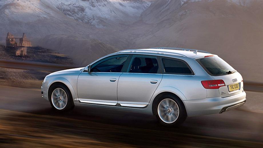 Audi A6 allroad (2006). Выпускается с 2006 года. Три базовые комплектации. Цены от 2 420 804 до 3 190 310 руб.Двигатель от 3.0 до 4.2, дизельный и бензиновый. Привод полный. КПП: автоматическая.