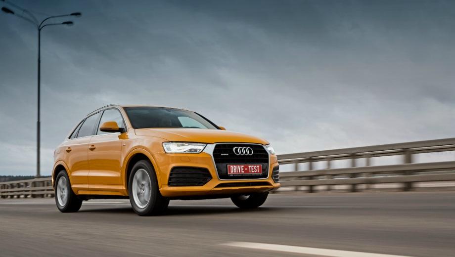 Audi Q3. Выпускается с 2011 года. Четырнадцать базовых комплектаций. Цены от 2 045 000 до 2 790 000 руб.Двигатель от 1.4 до 2.0, бензиновый и дизельный. Привод передний и полный. КПП: механическая и роботизированная.