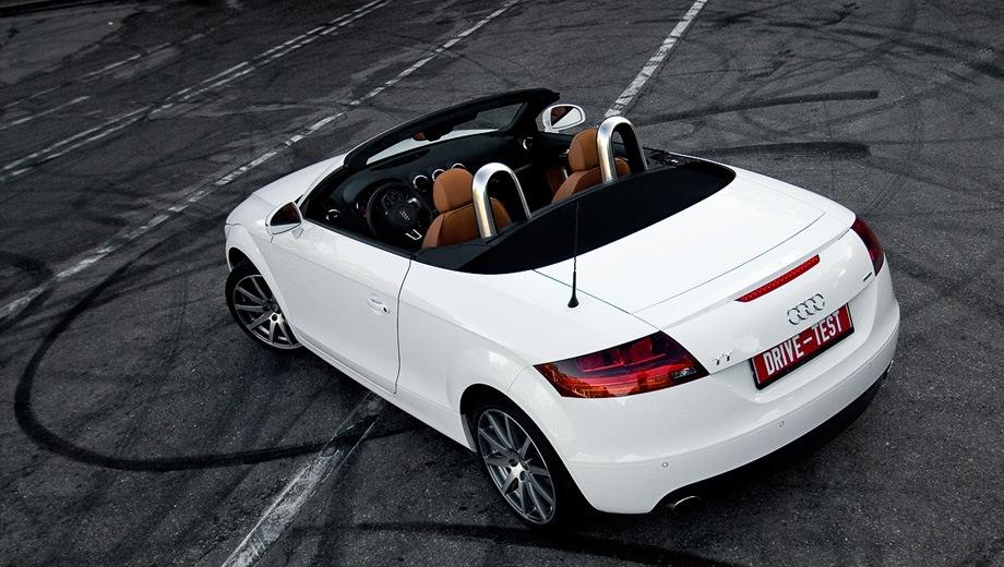Audi TT Roadster (2006). Выпускается с 2006 года. Три базовые комплектации. Цены от 1 709 000 до 2 028 000 руб.Двигатель от 1.8 до 2.0, бензиновый. Привод передний и полный. КПП: роботизированная.