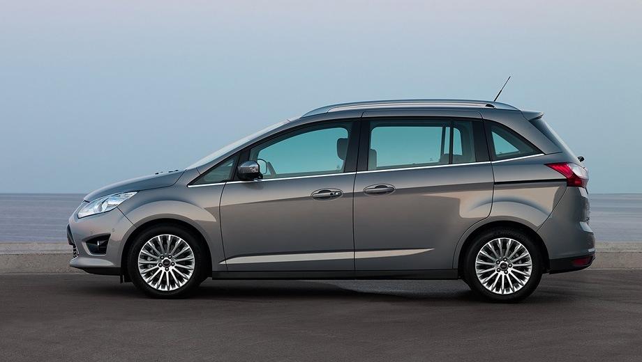 Ford Grand C-Max. Выпускается с 2009 года. Семь базовых комплектаций. Цены от 826 000 до 1 142 000 руб.Двигатель от 1.6 до 2.0, бензиновый и дизельный. Привод передний. КПП: механическая и автоматическая.