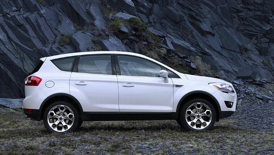 Ford Kuga (2008). Выпускается с 2008 года. Девять базовых комплектаций. Цены от 1 012 000 до 1 372 500 руб.Двигатель от 2.0 до 2.5, дизельный и бензиновый. Привод передний и полный. КПП: механическая, роботизированная и автоматическая.