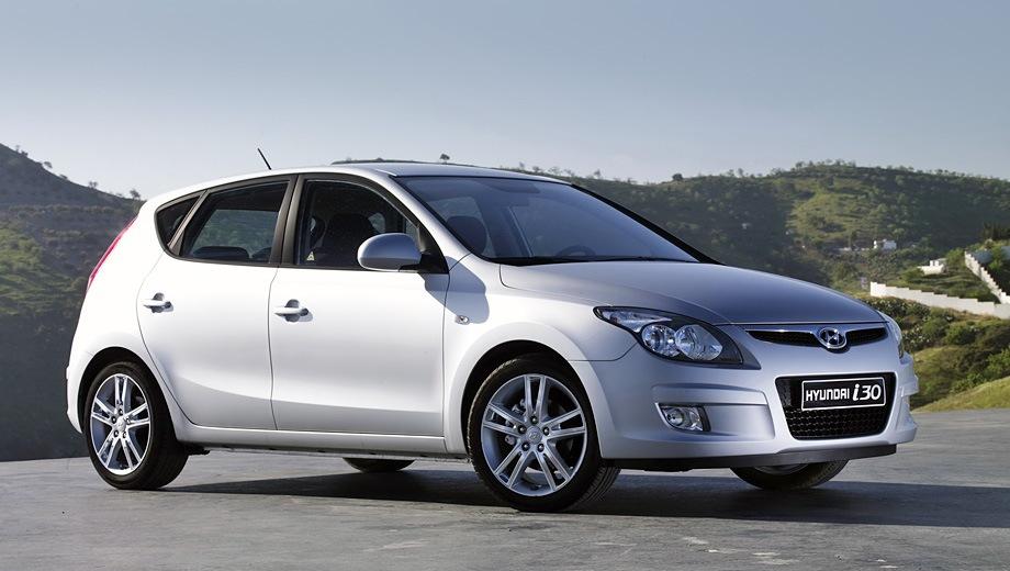 Hyundai i30 (2007). Выпускается с 2007 года. Четыре базовые комплектации. Цены от 685 900 до 766 900 руб.Двигатель 1.6, бензиновый. Привод передний. КПП: механическая и автоматическая.