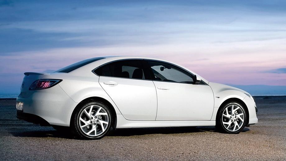Mazda 6 Sedan. Выпускается с 2007 года. Девять базовых комплектаций. Цены от 767 000 до 1 214 000 руб.Двигатель от 1.8 до 2.5, бензиновый. Привод передний. КПП: механическая и автоматическая.