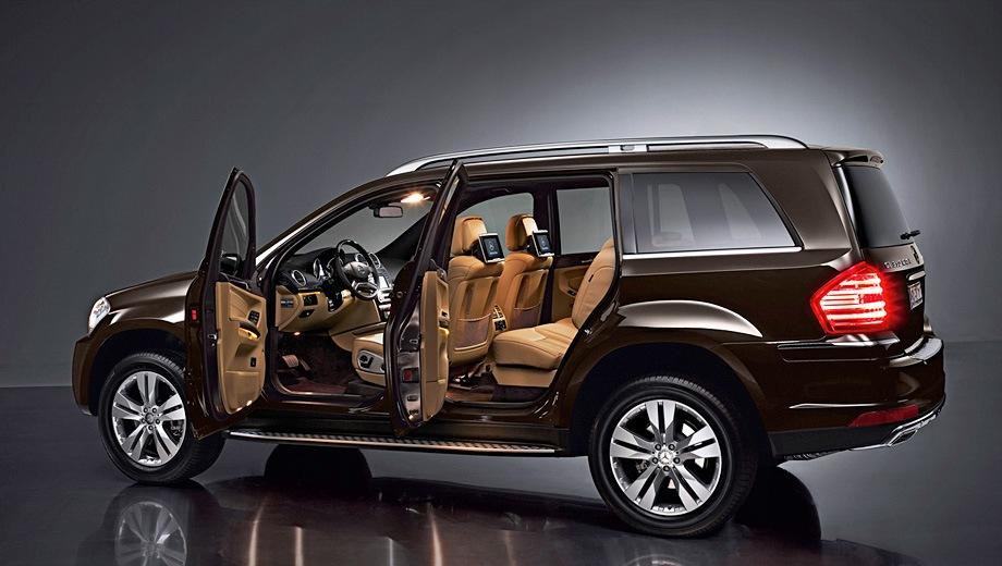 Mercedes-Benz GL (2006). Выпускается с 2006 года. Три базовые комплектации. Цены от 3 270 000 до 5 060 000 руб.Двигатель от 3.0 до 5.5, дизельный и бензиновый. Привод полный. КПП: автоматическая.