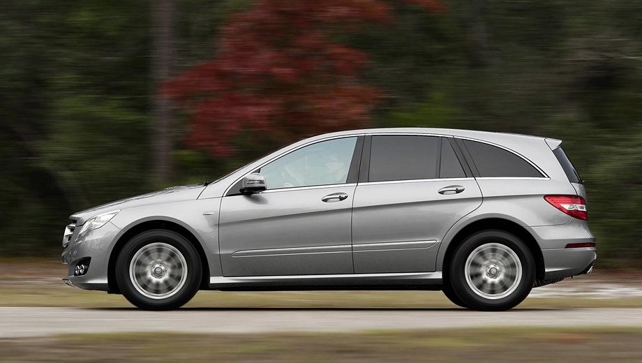 Mercedes-Benz R. Выпускается с 2010 года. Три базовые комплектации. Цены от 2 750 000 до 3 650 000 руб.Двигатель от 3.0 до 5.5, дизельный и бензиновый. Привод полный. КПП: автоматическая.