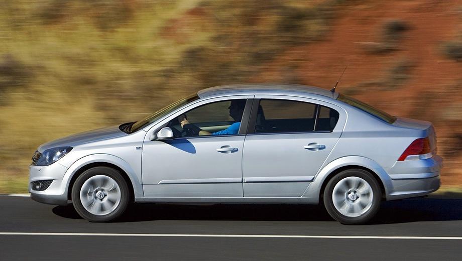 Opel Astra Sedan (2007). Выпускается с 2007 года. Шесть базовых комплектаций. Марка официально не представлена на российском рынке.Двигатель от 1.6 до 1.8, бензиновый. Привод передний. КПП: механическая и автоматическая.