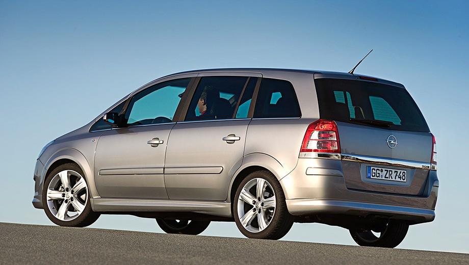 Opel Zafira. Выпускается с 2005 года. Две базовые комплектации. Марка официально не представлена на российском рынке.Двигатель 1.8, бензиновый. Привод передний. КПП: роботизированная и механическая.