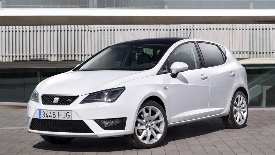 SEAT Ibiza FR. Выпускается с 2009 года. Одна базовая комплектация. Марка официально не представлена на российском рынке.Двигатель 1.4, бензиновый. Привод передний. КПП: роботизированная.