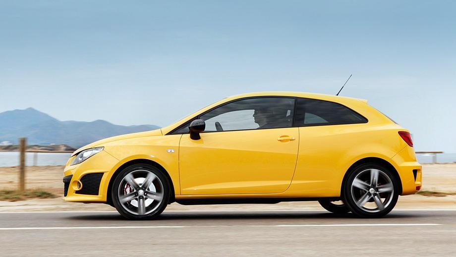 SEAT Ibiza SC Cupra. Выпускается с 2008 года. Одна базовая комплектация. Марка официально не представлена на российском рынке.Двигатель 1.4, бензиновый. Привод передний. КПП: роботизированная.