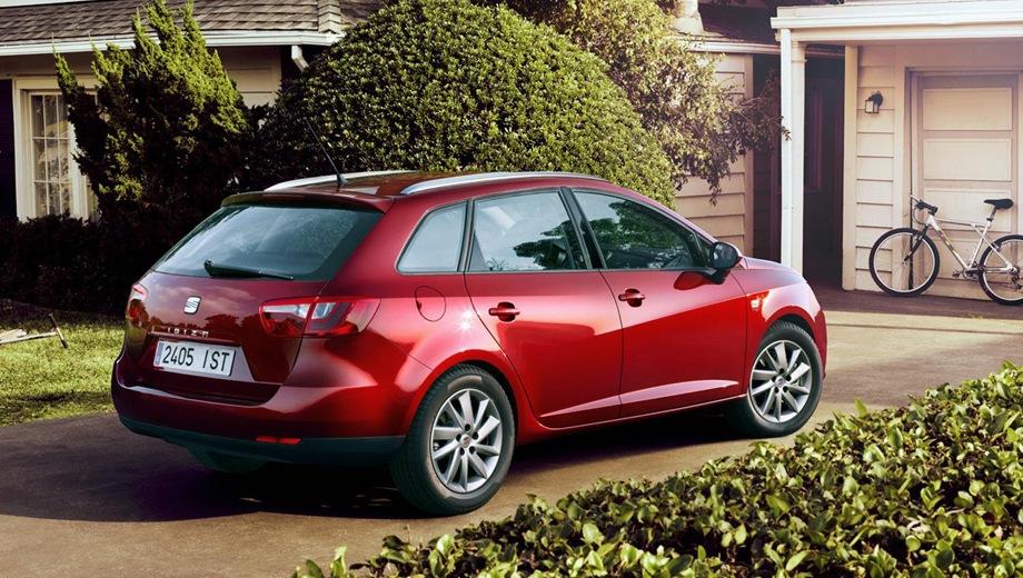 SEAT Ibiza ST. Выпускается с 2010 года. Восемь базовых комплектаций. Марка официально не представлена на российском рынке.Двигатель от 1.2 до 1.6, бензиновый. Привод передний. КПП: механическая и роботизированная.
