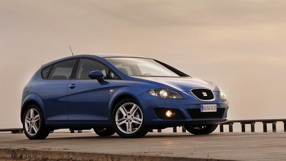 SEAT Leon (2005). Выпускается с 2005 года. Тринадцать базовых комплектаций. Марка официально не представлена на российском рынке.Двигатель от 1.2 до 1.8, бензиновый. Привод передний. КПП: механическая и роботизированная.