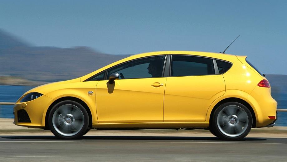 SEAT Leon FR. Выпускается с 2005 года. Одна базовая комплектация. Марка официально не представлена на российском рынке.Двигатель 2.0, бензиновый. Привод передний. КПП: роботизированная.