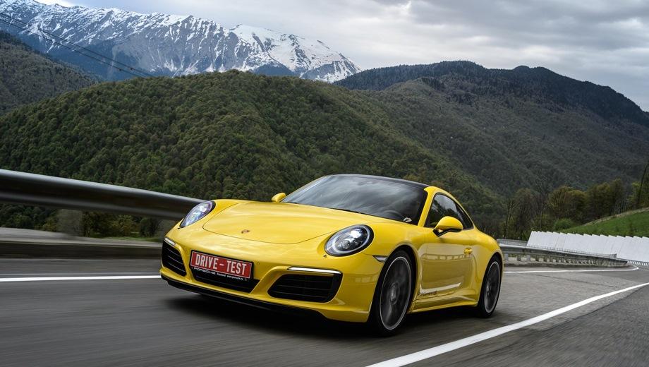 Porsche 911 Carrera Coupe (2011). Выпускается с 2011 года. Двенадцать базовых комплектаций. Цены от 6 319 000 до 8 554 504 руб.Двигатель 3.0, бензиновый. Привод задний и полный. КПП: механическая и роботизированная.