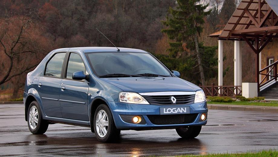 Renault Logan (2004). Выпускается с 2004 года. Три базовые комплектации. Цены от 409 000 до 574 990 руб.Двигатель от 1.4 до 1.6, бензиновый. Привод передний. КПП: механическая и автоматическая.