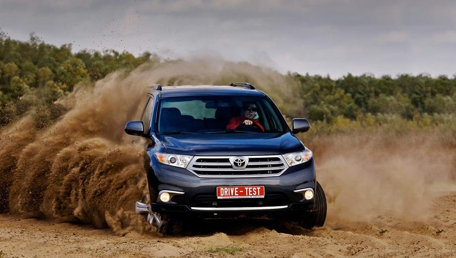 Toyota Highlander (2010). Выпускается с 2010 года. Три базовые комплектации. Цены от 1 690 000 до 1 976 000 руб.Двигатель 3.5, бензиновый. Привод полный. КПП: автоматическая.