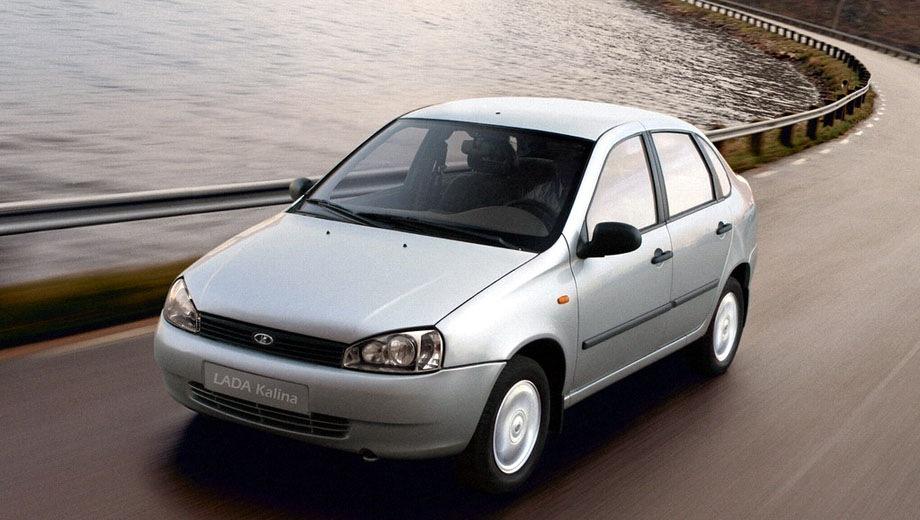 Lada Kalina sedan. Выпускается с 2004 года. Пять базовых комплектаций. Цены от 269 900 до 346 900 руб.Двигатель от 1.4 до 1.6, бензиновый. Привод передний. КПП: механическая.