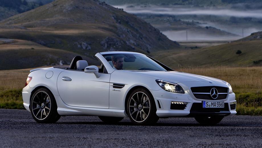 Mercedes-Benz SLK 55 AMG. Выпускается с 2011 года. Одна базовая комплектация. Цена 4 200 000 руб.Двигатель 5.5, бензиновый. Привод задний. КПП: автоматическая.