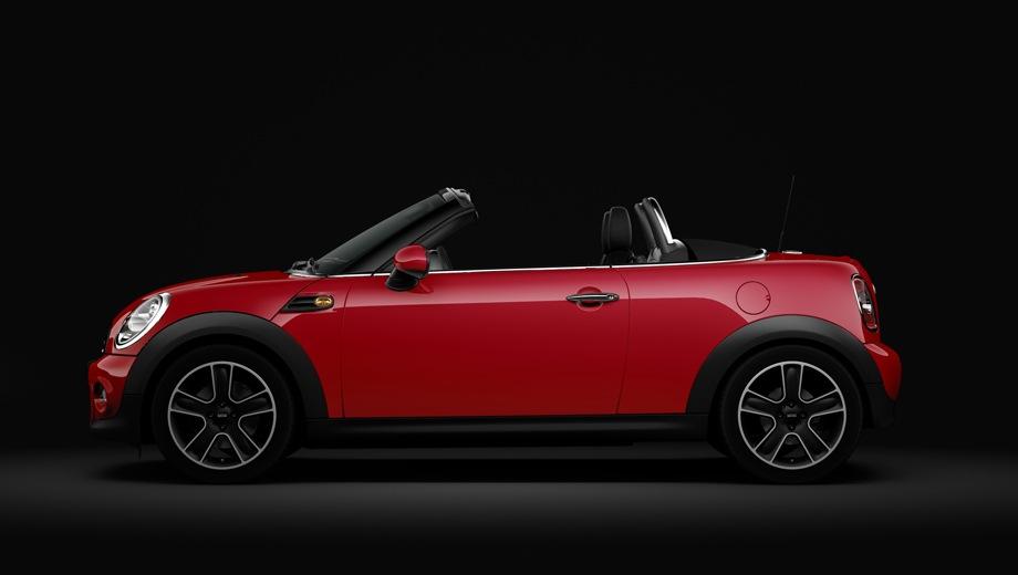 MINI Cooper Roadster. Выпускается с 2011 года. Восемь базовых комплектаций. Цены от 940 000 до 1 137 800 руб.Двигатель 1.6, бензиновый. Привод передний. КПП: механическая.